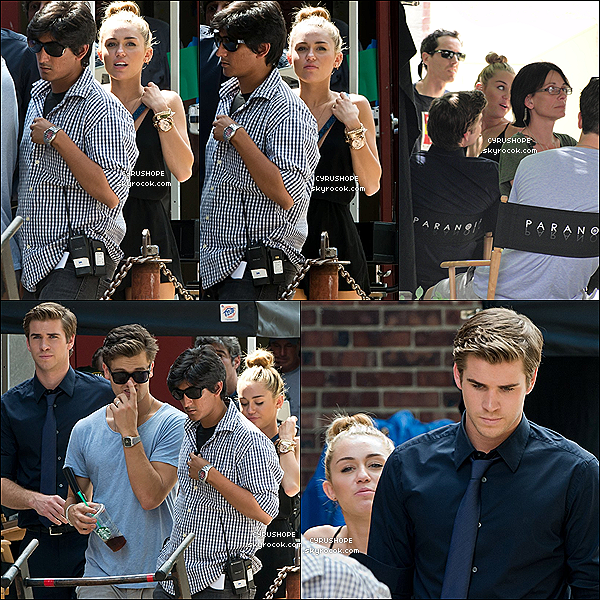 . 31/07/2012 - Miley Cyrus était avec Liam sur le set de Paranoïa à Philadelphie..