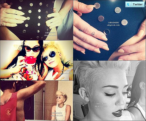 . 30/08/2012 -  Miley Cyrus était avec son ami Vijat Mohindra dans Los Angeles.Miley a été photoshootée par Vijat pour MileyCyrus.com ! Découvrez-en quelques photos postées sur Twitter..