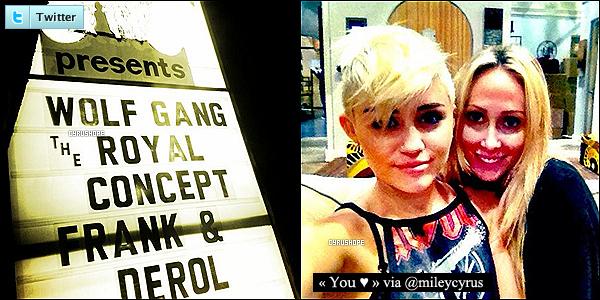 - Miley C. a publié deux nouvelles photos sur Twitter, dont une avec sa mère, Tish.-