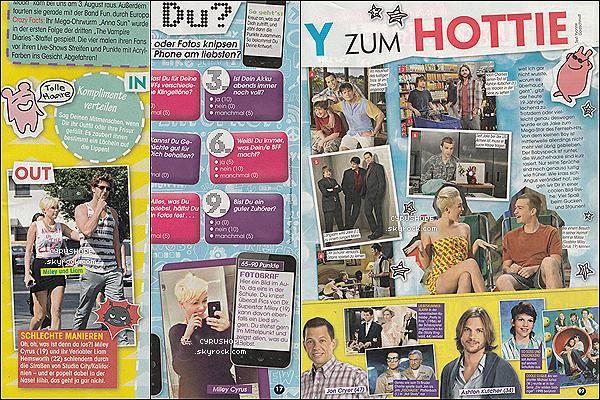 . Miley Cyrus apparaît dans trois magazines allemand pour ce mois de Novembre ! .