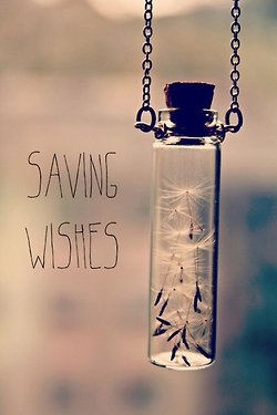 Saving wishes.