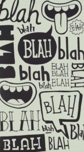 Blah Blah BLAH.