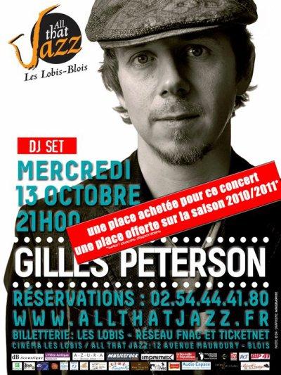 GILLES PETERSON EN CONCERT A BLOIS !