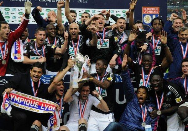 Lyon remporte sa 5eme Coupe de France en 2012 contre Quevilly