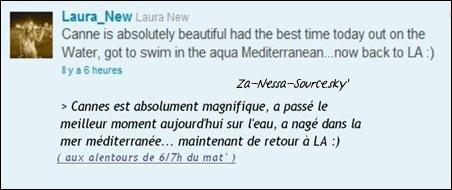 Za-Nessa-Source Dimanche 15 mai : Vanessa a assisté à The Art Of Elysium 3rd Annual Paradis Event, oui toujours à Cannes. Za-Nessa-Source
