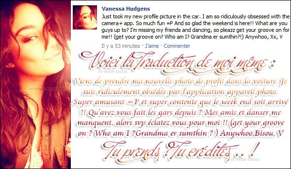 Za-Nessa-Source Vendredi 3 juin : Vanessa, pire que surmenée par le travail, a posté sur sa page Facebook.Za-Nessa-Source