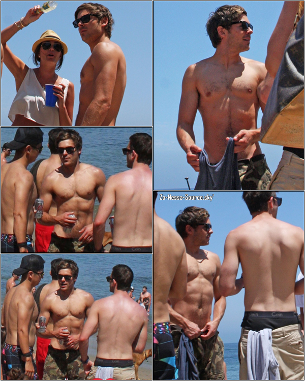Za-Nessa-SourceLundi 4 juillet : Zac célébrant la fête nationale avec des amis, sur une plage de Malibu.Oui, ben, on sait au moins que Zac et Vanessa aiment les poils hein...*je connais la sortie*Za-Nessa-Source