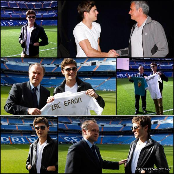 Za-Nessa-Source 08 /03 /12: Zac est allé au stade du Real Madrid, a fait une séance de dédicace et s'est rendu en Italie.Za-Nessa-Source