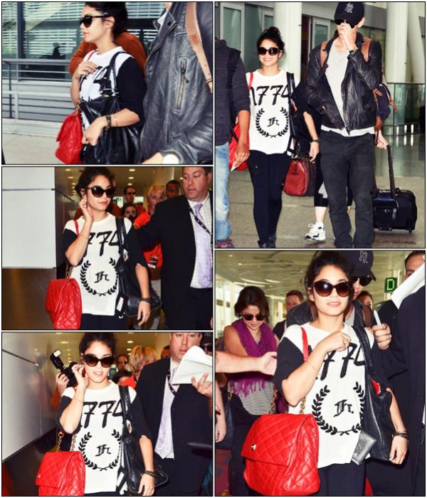 Za-Nessa-Source (06.09.12) Vanessa, Austoutou et Selena Gomez sont arrivés à l'aéroport de Torronto.Za-Nessa-Source