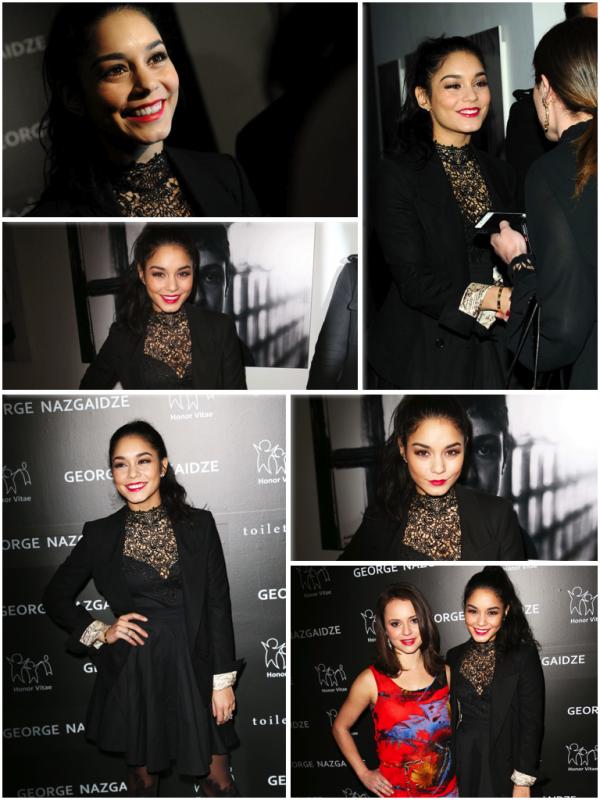 """Za-Nessa-Source (17.12.12) Vanessa était présente à la soirée """"Charity meets Fashion"""", à New York.Za-Nessa-Source"""