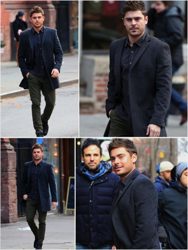 Za-Nessa-Source(20.12.12) Zac et les autres acteurs de AWOD en tournage, à New York.Za-Nessa-Source