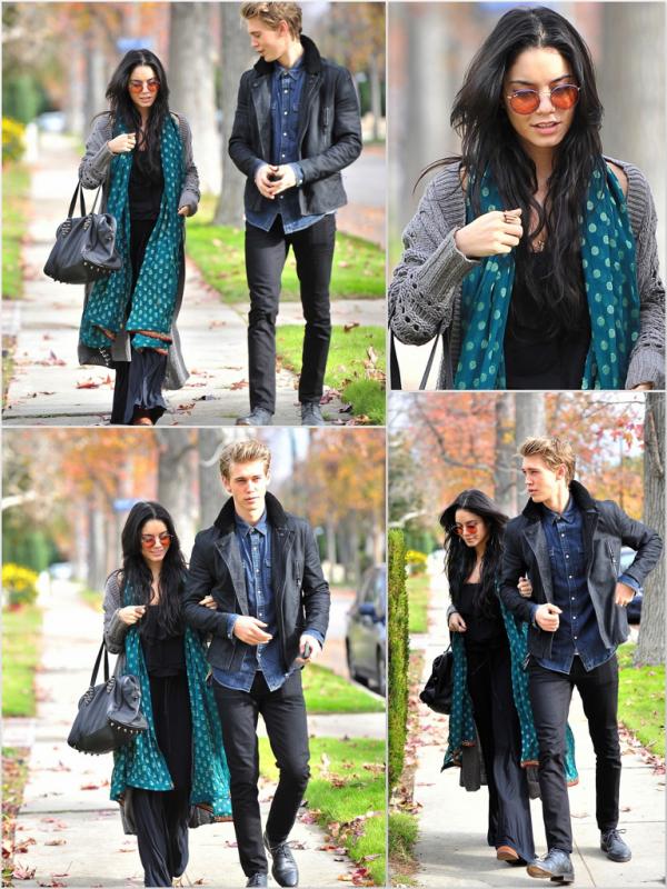 Za-Nessa-Source (23.12.12) De retour à Los Angeles, Vanessa et son Austoutou, sont allés à une fête.Za-Nessa-Source