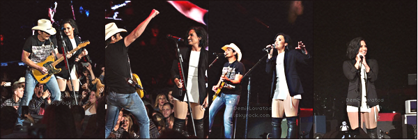 "20 Mai 2016 / Demi a performé ""Without A Fight"" avec Brad Paisley à Irvine"