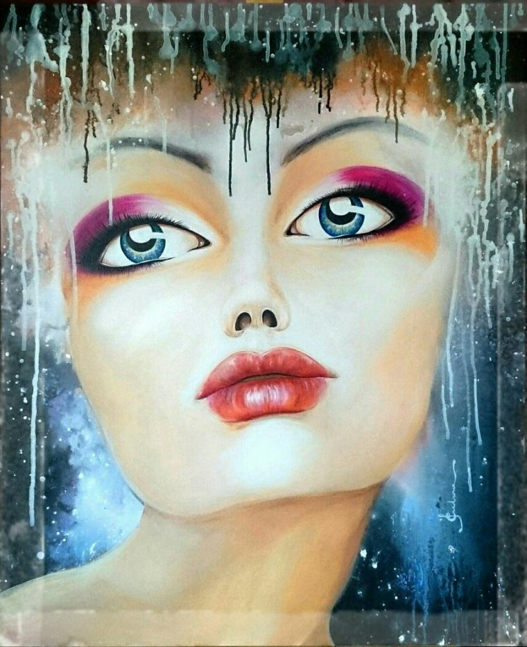 EYES IN THE STARS ...100 x 83 cms