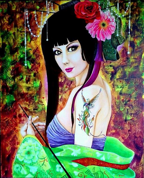 KIMIKO oil on canevas 81 x 65 cms