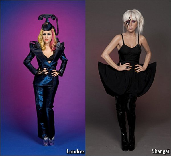 . Les statues en cire de notre Gaga sont enfin finies..