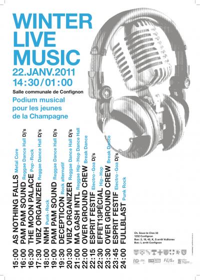 FESTIVAL WINTER LIVE MUSIC 2011 ! Effet13pécial Live à 22h30 !