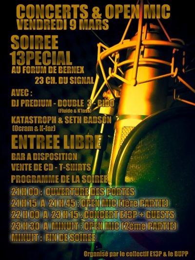 Flyers Concert & Open mic 13pécial #1