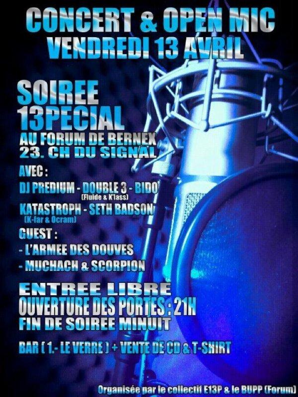 Flyers Concert & Open mic 13pécial #2