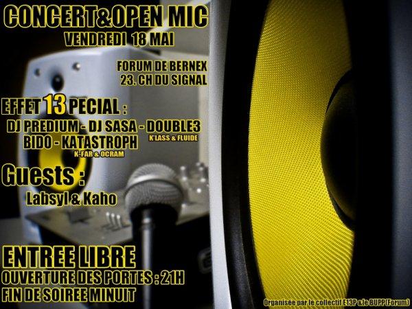 Flyers Concert & Open mic 13pécial #3