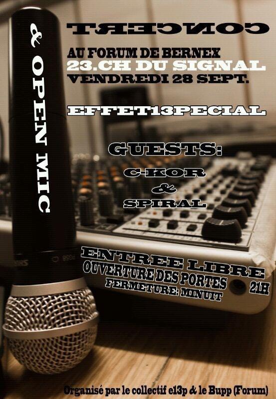 Flyers Concert & Open mic 13pécial #4