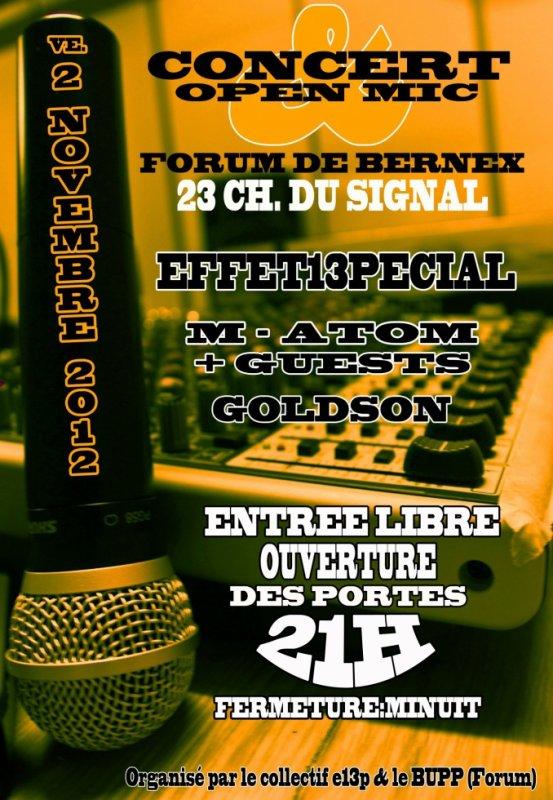 Flyers Concert & Open mic 13pécial #5