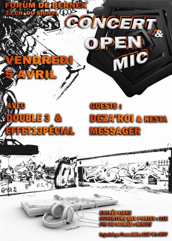 Concerts et Open mic 13pécial #7