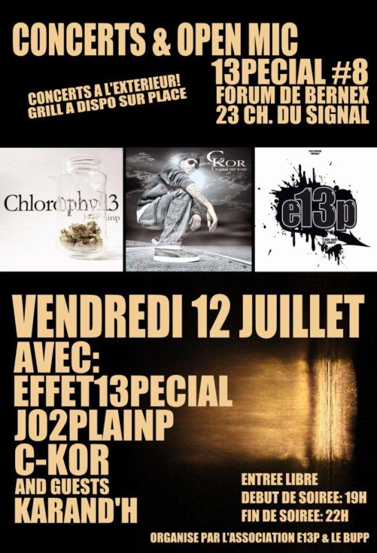 Concerts & Open mic 13pécial #8