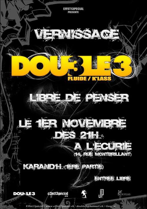 Vernissage du Street Cd de Double 3