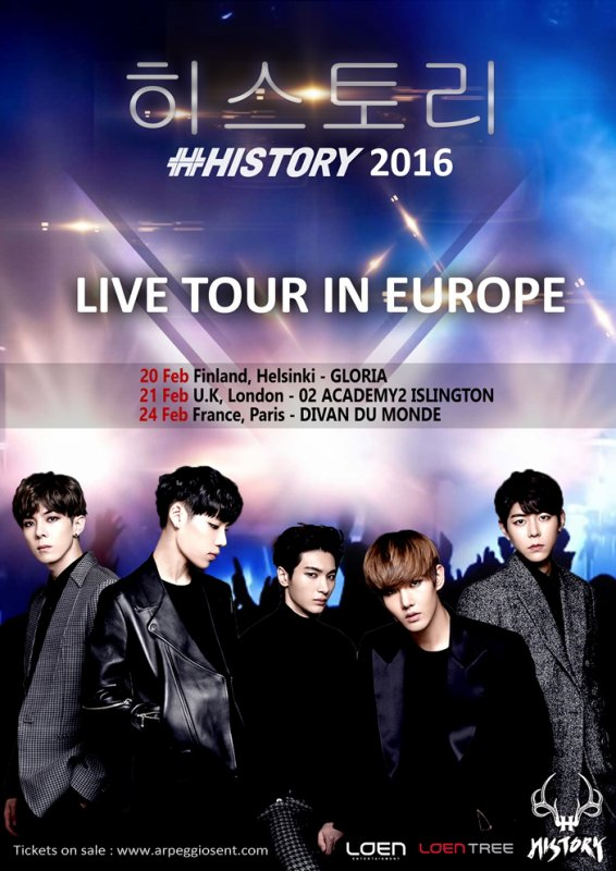 History Live Tour 2016