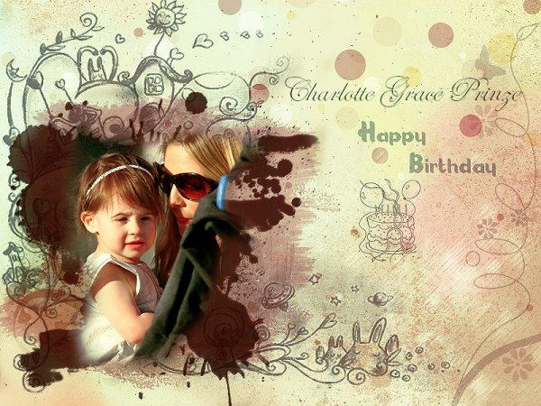 Un joyeux anniversaire Charlotte