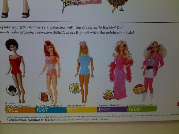 1ere barbie 1959.