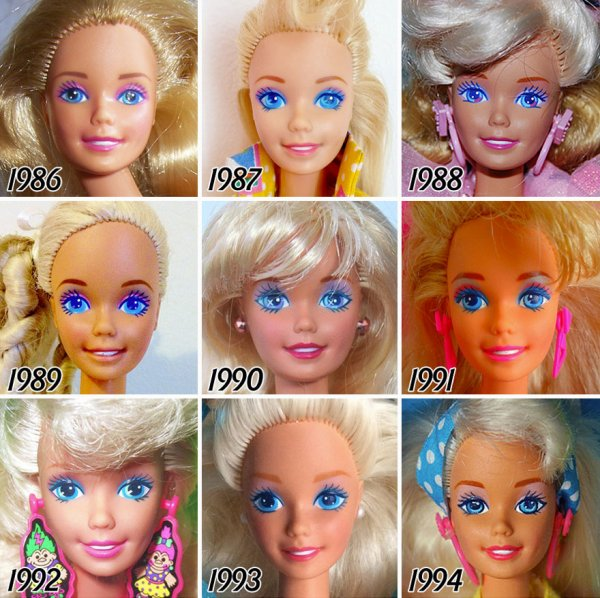 Visage de Barbie...l'ange coloré