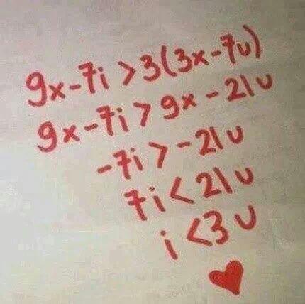 Les maths sont la preuve que je t'aime ∞