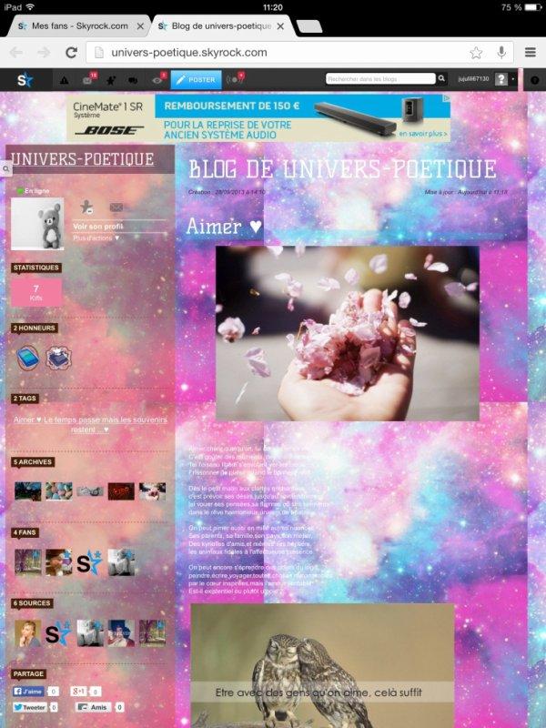 Mon nouveau blog.