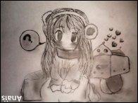 Mes dessins. ♥ La Joconde sourit parce que tous ceux qui lui ont dessiné des moustaches sont morts. !
