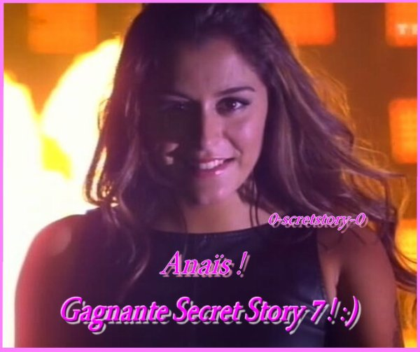 La Grande Gagnante de Secret Story 7 est ...... !!!