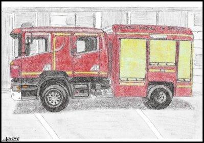 Dessin Camion Pompier Univers D Aurore