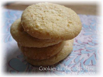 Biscuits raisins / noix de coco / chocolat blanc