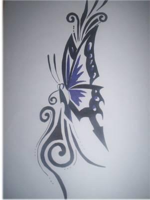 Papillon tribal mon univers - Tribal papillon ...