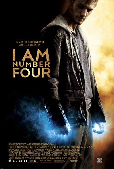 Numéro quatre est un film de Science fiction , Action réalisé par D.J. Caruso avec au casting Alex Pettyfer, Timothy Olyphant et Teresa Palmer. Le film sortira en France dans les salles de cinéma le 16 mars 2011 . Le titre original du film est : I Am Number Four. Le résumé du film est le suivant : Trois sont déjà morts. Qui sera le quatrième ? Un adolescent extraordinaire, John Smith, fuit devant des ennemis prêts à tout pour le détruire. Changeant perpétuellement d'identité, ne restant jamais longtemps dans la même ville, il est accompagné par Henri, qui veille sur lui. Partout où il va, John est le nouveau venu, celui qui n'a aucun passé. Dans la petite ville de l'Ohio où il s'est installé, il va vivre des événements inattendus qui vont changer sa vie. De son premier amour à la découverte de ses incroyables aptitudes, il va aussi se lier à des personnes qui partagent son fascinant destin…