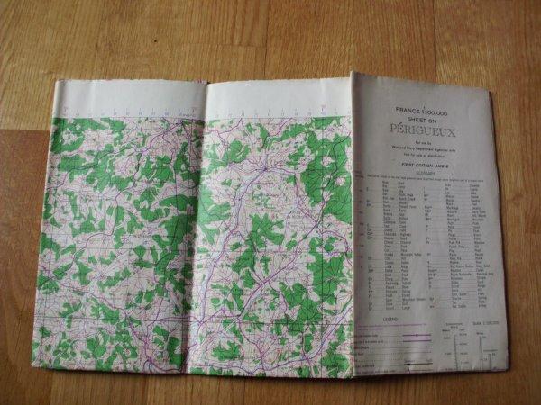 carte us ww2 secteur Périgueux