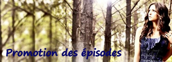 Promotions des épisodes