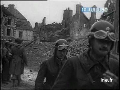 10 juillet 1944 La Haye du Puit - motocyclistes
