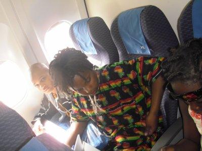 dans l'avion moi,curtis,mon frere