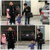 Le 20 décembre 2010    Violet accompagné de sa soeur Seraphina, de sa mère et de sa grand-mère paternelle Christina Affleck. Toutes les quatres allant au bowling, un jour de pluie.