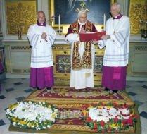 Présentation au Pape Benoît XVI des agneaux de Sainte Agnès