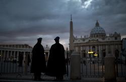 Messe et procession avant l'entrée en conclave