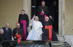 François confie la ville de Rome à la Sainte Vierge