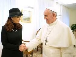 Le Pape François rencontre la présidente argentine